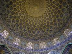 Islamic Architecture - Interior view of the dome of the mosque Sheikh Lotf Allah (or Lotfollah) - Isfahan - (12)