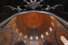 L'architecture islamique. Vue intérieure de la coupole de la mosquée Sheikh Lotf Allah (ou Lotfollah), Ispahan, l'Iran (14)