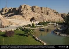 Arquitectura preislámica-Una vista de Arg-é Bam (Ciudadela de Bam). Era la mayor construcción de adobe del mundo, construida con anterioridad al año 500 aC. ,Una ciudad de la provincia de Kermán - 46