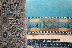 """اسلامی معماری - شہر مشہد میں """"۷۲ شہید"""" نام کی جامع مسجد میں فن کاشی کاری (ٹائل) کا ایک نمونہ ، ایران - ۳۲"""