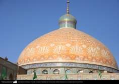 معماری اسلامی - نمایی از گنبد طباطبایی حرم حضرت فاطمه معصومه (س) در شهرستان مقدس قم - 122
