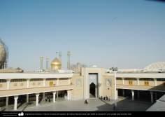 معماری اسلامی - نمایی از گنبد و صحن در حال ساخت حرم حضرت فاطمه معصومه در شهرستان مقدس قم - 90