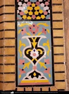 Arquitectura Islámica- Vista de un mosaico en el santuario de Fátima Masuma en la ciudad santa de Qom - 124