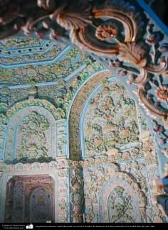 Исламская архитектура - Облицовка кафельной плиткой (Каши Кари) и сталактиты с дизайном цвета - Храм Фатимы Масуме (мир ей) - Кум - 68