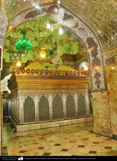 معماری اسلامی - نمایی از ضریح مطهر حضرت فاطمه معصومه (س) در شهرستان مقدس قم - 120