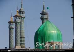 Arquitectura Islámica- Vista de la cúpula dorada cubierta antes de la nueva inauguración - Santuario de Fátima Masuma - 63