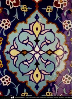 Arquitectura Islámica- Vista de un mosaico de motivos geométricos en el santuario de Fátima Masuma (P) en la ciudad santa de Qom - 69