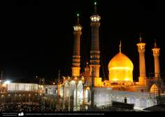 Architecture islamique, vue de dôme du sanctuaire de Fatima Ma'souma, dans la ville sainte de Qom-77