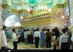Arquitectura Islámica y vista de la tapa de la tuma de Fátima Masuma y sus pregrinos. Ciudad santa de Qom - 75