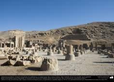 Доисламская персидская архитектура - Иранское искусство - Персеполис или Тахте-Джамшид ( трон Джамшида ) - Шираз - 25