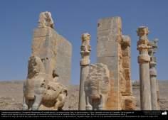 Доисламская персидская архитектура - Иранское искусство - Персеполис или Тахте-Джамшид ( трон Джамшида ) - Шираз - 33