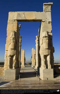 Доисламская персидская архитектура - Иранское искусство - Персеполис или Тахте-Джамшид ( трон Джамшида ) - Шираз - 8