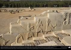 Доисламская персидская архитектура - Иранское искусство - Персеполис или Тахте-Джамшид ( трон Джамшида ) - Шираз - 42