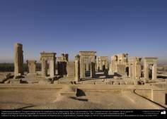 Доисламская персидская архитектура - Иранское искусство - Персеполис или Тахте-Джамшид ( трон Джамшида ) - Шираз - 7