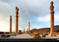 Доисламская персидская архитектура - Иранское искусство - Персеполис или Тахте-Джамшид ( трон Джамшида ) - Шираз - 4