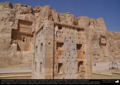 المعماریة ما قبل الإسلام - الفن الفارسي - شيراز، برسبوليس - النقش رستم - 11