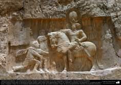 Vorislamische Architektur - Partielle Sicht vom Naqsh-e Rostam (Portrait von Rostam), nahe von Persepolis - 47 - Islamische Kunst