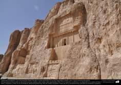 Preislamic Arquitechture - Partial View of Naqsh-e Rostam (Rostam's portrait), near Persepolis, Fars - Shiraz - 10