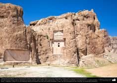 Preislamic Arquitechture - Partial View of Naqsh-e Rostam (Rostam's portrait), near Persepolis, Fars - Shiraz - 15