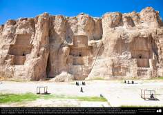Preislamic Arquitechture - Partial View of Naqsh-e Rostam (Rostam's portrait), near Persepolis, Fars - Shiraz - 32