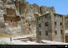 Preislamic Arquitechture - Partial View of Naqsh-e Rostam (Rostam's portrait), near Persepolis, Fars - Shiraz - 14