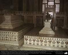 Arquitetura Islâmica - O  mausoléu do Shah Jahan e sua esposa favorita a Princesa persa Mumtaz Mahal no Taj Mahal - Agra Índia