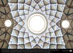"Architettura islamica-Una vista del soffitto di casa storica ""Borugerdi"" a Cashan-237"