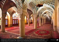 Architecture islamique,Nasir al-Mulk mosquée de Shiraz,en Iran. Une vue interne partiel- 6