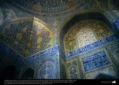 Исламская архитектура - Облицовка кафельной плиткой (Каши Кари) - Фасад мечети Имама Хомейни (мечеть Шаха) - Исфахан , Иран - 101