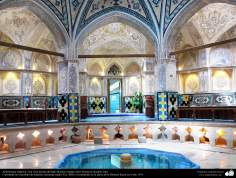 Arquitectura islámica- Una vista interna del baño histórico Sultán Amir Ahmad en Kashan, Irán - 103