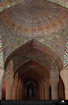 Islamic Arquitechture-  Nasir al-Mulk  Mosque in Shiraz, Iran. A partial view - 18