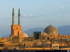 المعمارية الإسلامية - المنظر المسجد جامع من مدينة يزد في ايران - 222