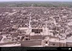 Arquitectura preislámica- Una vista de Arg-é Bam (Ciudadela de Bam). Era la mayor construcción de adobe del mundo-500 aC. Kerman - 31