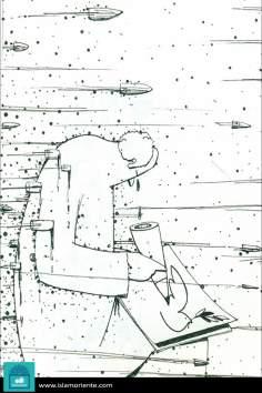Arte, paz y guerra (caricatura)