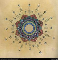 イスラム美術(ペルシアのトランジとシャムス(太陽)スタイルのタズヒーブ(Tazhib)、 絵画やミニチュアでの装飾)- 3