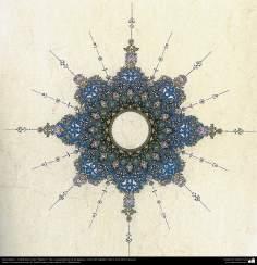 Arte islamica-Tazhib(Indoratura) persiana lo stile Toranj e Shams,Ornamento mediante dipinto o miniatura-1