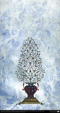 イスラム美術(ゴシャイェシュスタイルのペルシアタズヒーブ(Tazhib)、コーランなどの貴重な書物の装飾)-45