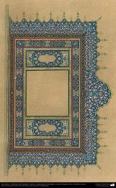 "Islamic Art - Persian Tazhib type ""Goshaiesh"" - opening - (ornamentation of the pages and texts of the Quran and other valuable books) -2"