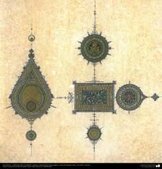 هنر اسلامی - تذهیب فارسی - سبک گشایش - تزئینات و خوشنویسی قرآن و متون با ارزش - 3