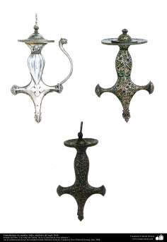 Islamic Art - Handles of swords, India, around 18 AD century.