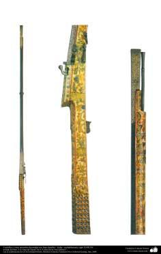 Arte islâmica -  Facas e outros utensílios decorados com finos detalhes   – India – probablemente siglo XVIII DC.