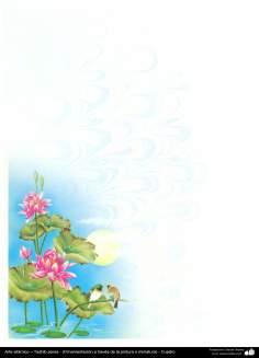 Arte islámico – Tazhib persa - (Ornamentación a través de la pintura o miniatura) - Cuadro -68