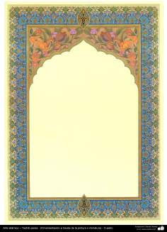 Art islamique, Tazhib perse - Cadre, ornement ou miniature