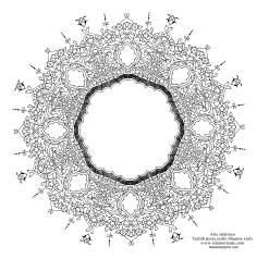 """اسلامی ہنر - فن تذہیب میں """"ترنج و شمس"""" (سورج) کی اسٹائل، قیمتی صفحات اور عبارات کی سجاوٹ کے لیے - ۳۷"""