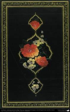 """اسلامی ہنر - """"پھول اور پرندہ"""" انداز کی ایرانی فن تذہیب اور نقش و نگار، قرآن یا دیگر قیمتی اوراق کی سجاوٹ اور نقش و نگار - ۱۸"""