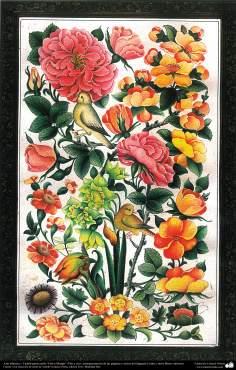 イスラム美術(花と鳥スタイルのペルシアタズヒーブ(Tazhib)、コーランなどの貴重な書物の装飾)-3