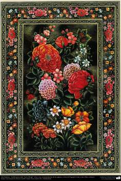 "Islamic Art -Tazhib of persian style ""Gol-o Morgh"" -Bird and Flower - 41"