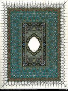 """Islamic Art - Persian Tahzib type """"Goshaiesh"""" -openning-; (ornamentation of valuable pages and text like the Holy Quran)"""