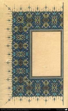 Arte islamica-Tazhib(Indoratura) persiana lo stile Goshaiesh-Ornamentale e calligrafico-7
