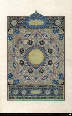Arte islamica-Tazhib(Indoratura) persiana lo stile Goshaiesh-Ornamentale e calligrafico-6